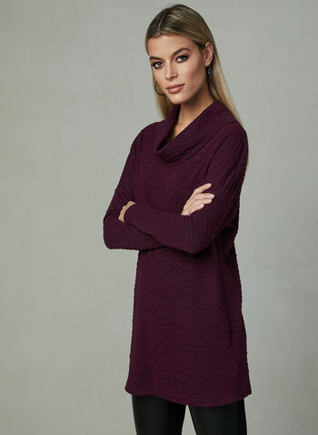 Dolman Sleeve Knit Tunic, Black, hi-res