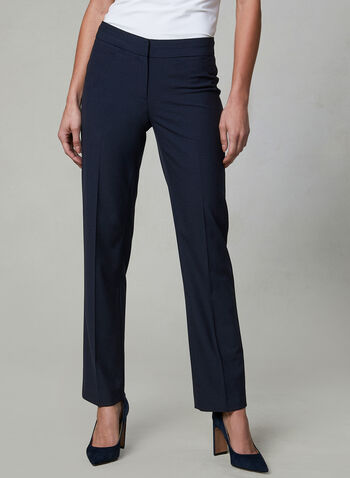 Petite Lauren Fit Pants, Blue, hi-res,