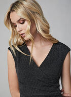 Maggy London - V-Neck Glitter Dress, Black
