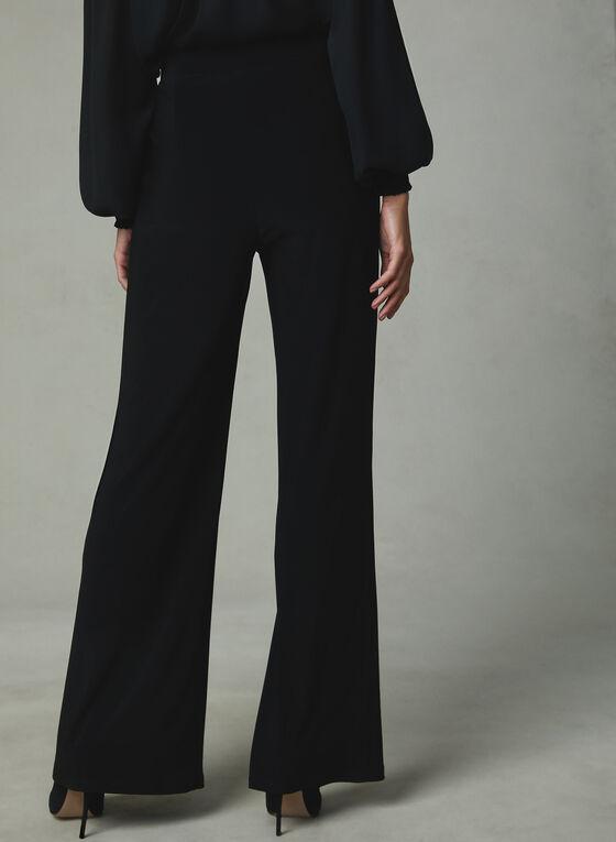 Frank Lyman - Pantalon pull-on à jambe large et perles, Noir, hi-res