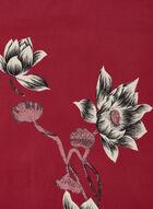 Foulard fleuri réversible, Rose