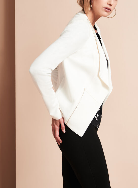 Vex Knit Cascade Jacket, Off White, hi-res