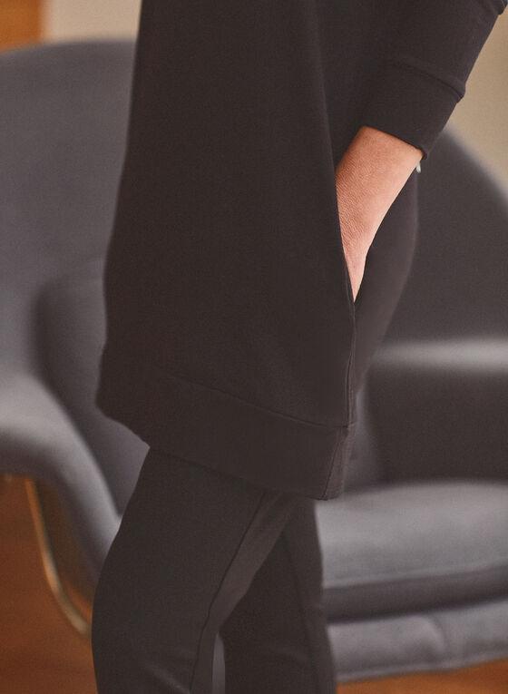 Haut à capuchon et manches longues , Noir