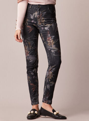 Reversible Slim Leg Jeans, Black,  fall winter 2020, jeans, reversible, slim leg, pants, pocket, zip, button, soft, supple, comfort, stretch, versatile