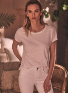 Alison Sheri - Haut à manches courtes , Blanc
