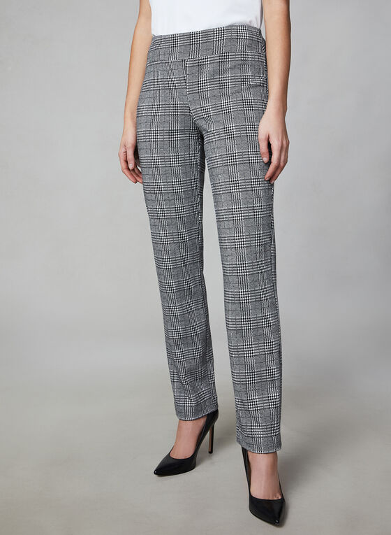 Pantalon Madison à carreaux, Noir