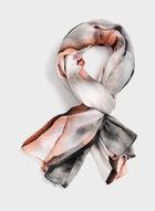 Foulard léger floral effet délavé, Rose, hi-res
