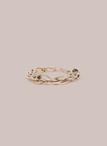 Bracelet à maillons enchevêtrés, Or,  bracelet, maillons, métal, printemps été 2020