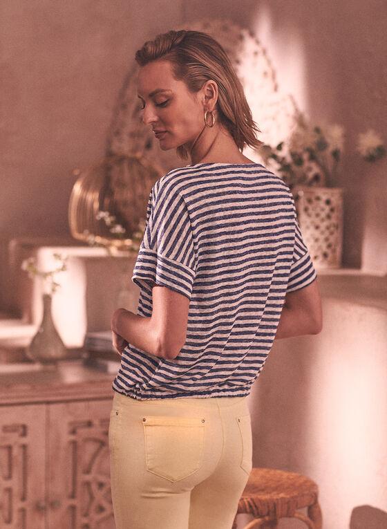 Stripe Print Tee, Blue