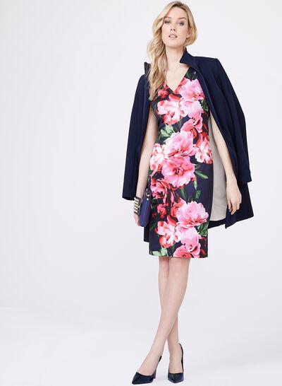 Vince Camuto - Floral Print Scuba Dress
