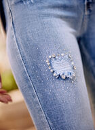 Alison Sheri - Jean à déchirures et cristaux, Bleu