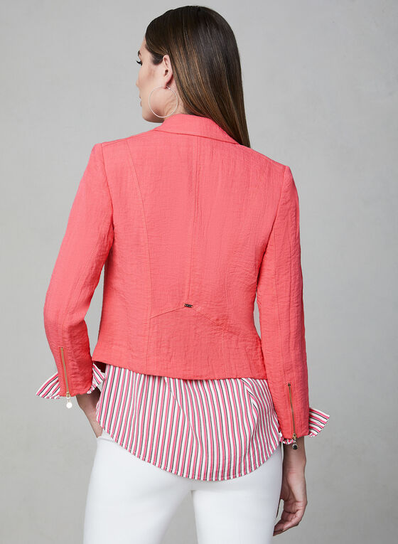 Vex - Zipper Trim Jacket, Pink, hi-res