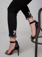 Frank Lyman - Jeans à ourlet perlé, Noir