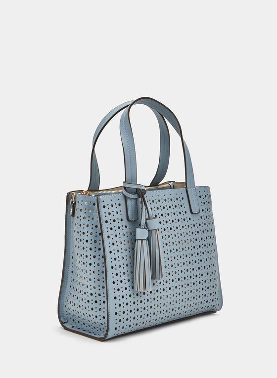 Square Satchel, Blue, hi-res