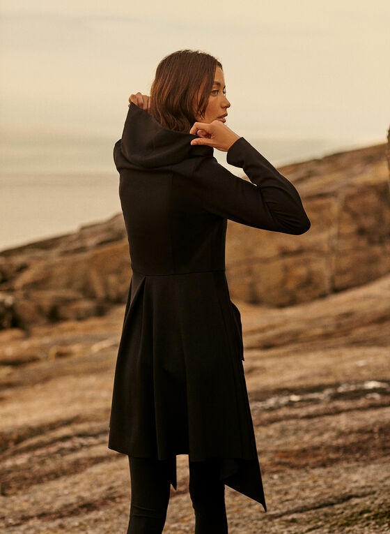 Joseph Ribkoff - Zip Front Hooded Jacket, Black