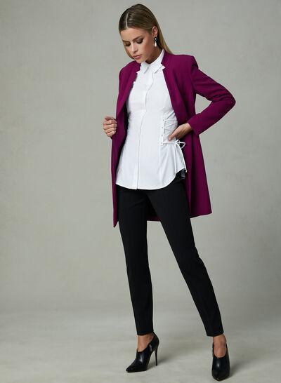 Corset Detail Long Sleeve Blouse