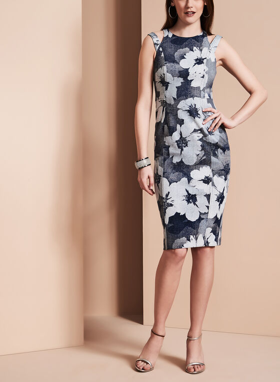 Maggy London - Magnolia Print Dress, Blue, hi-res