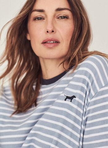 Printed Nightshirt, Blue,  fall winter 2020, nightshirt, pyjama, stripe print, long sleeve. pockets, sleepwear