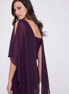 Frank Lyman – Sleeveless Chiffon Overlay Dress, Purple, hi-res