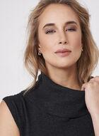 Sleeveless Cowl Neck Knit Tunic, Grey, hi-res