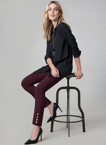 Layered Chiffon Blouse, Black,  long sleeves, chiffon, layered effect, button down, tunic, fall 2019, winter 2019