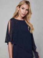 BA Nites - Asymmetric Poncho Dress, Blue
