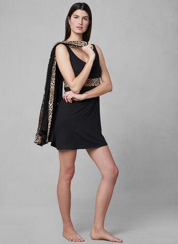 Hamilton - Nightgown & Robe Set, Black, hi-res