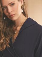 Maggy London - Robe drapée en crêpe, Bleu