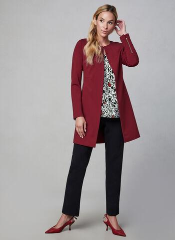 Abstract Animal Print Blouse, Grey, hi-res,  chiffon blouse, leopard print