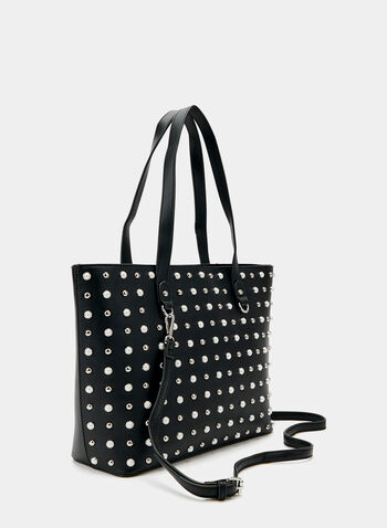 030c807e439e Embellished Faux Leather Tote Bag
