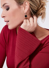 Long Bell Sleeve Sweater, Red, hi-res