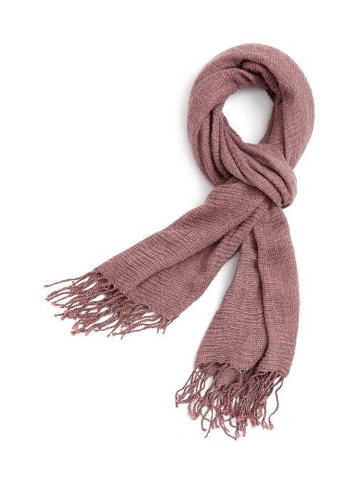 Foulard pashmina en tricot, Rose, hi-res