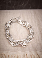 Multi Link Chain Necklace, Silver