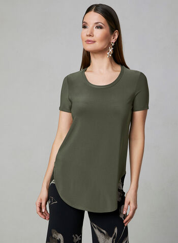 Joseph Ribkoff - Short Sleeve Top, Green, hi-res