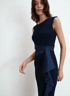 Joseph Ribkoff - Side Flounce Dress, Blue