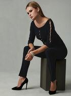 Joseph Ribkoff - Pearl Detail Top, Black, hi-res