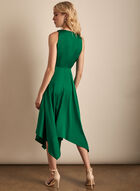 Maggy London - Tie Detail Satin Dress, Green