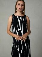 Maggy London - Abstract Print Sleeveless Dress, Black, hi-res