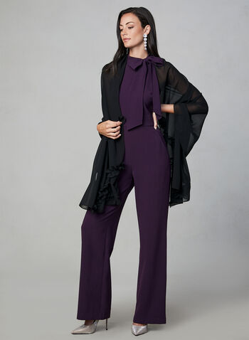 Vince Camuto - Halter Neck Jumpsuit, Purple, hi-res,  fall winter 2019, jumpsuit, sleeveless, halter, vince camuto