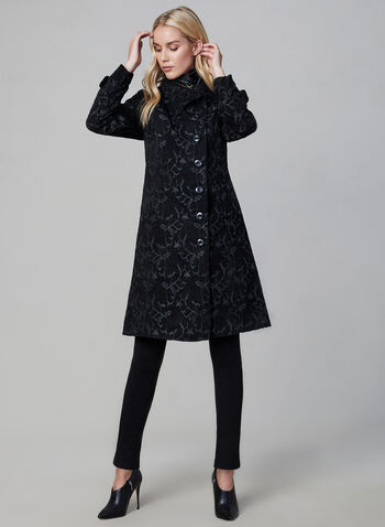 Long Tapestry Coat, Black, hi-res,  fall winter 2019, long, tapestry