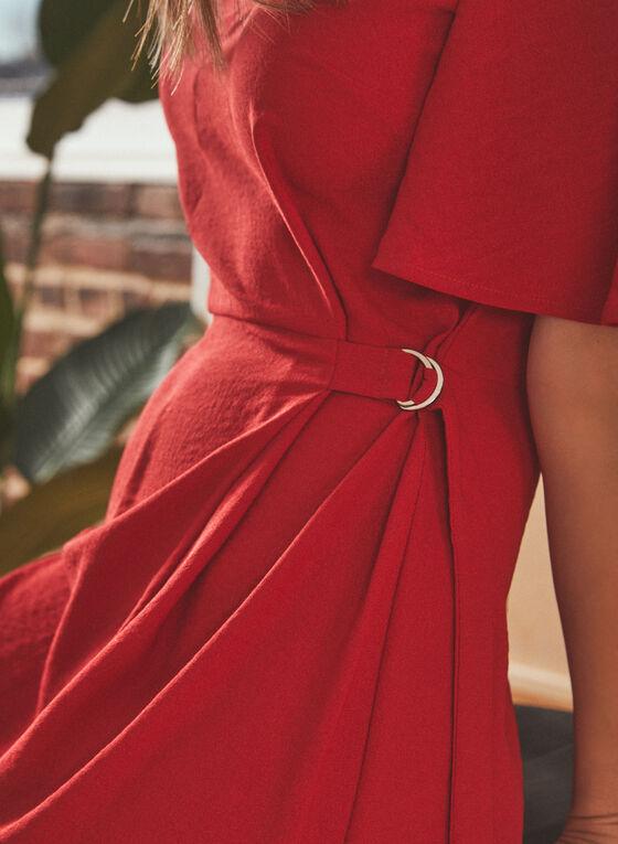 Vince Camuto - Robe drapée avec attache, Rouge