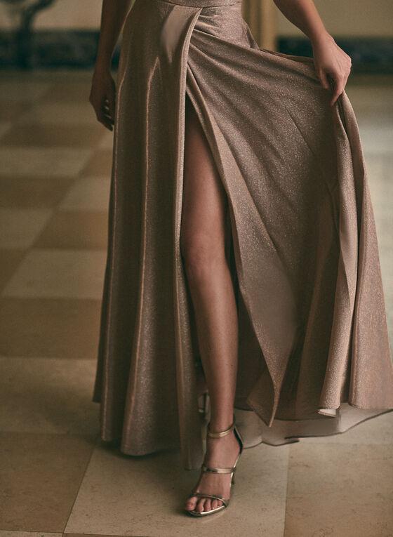 BA Nites - Robe à encolure cœur et épaules dénudées , Rose