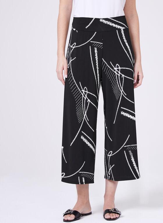 Clara Sunwoo - Abstract Print Pull-On Culottes, Black, hi-res