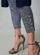 Abstract Print Capri Pants, Black, hi-res