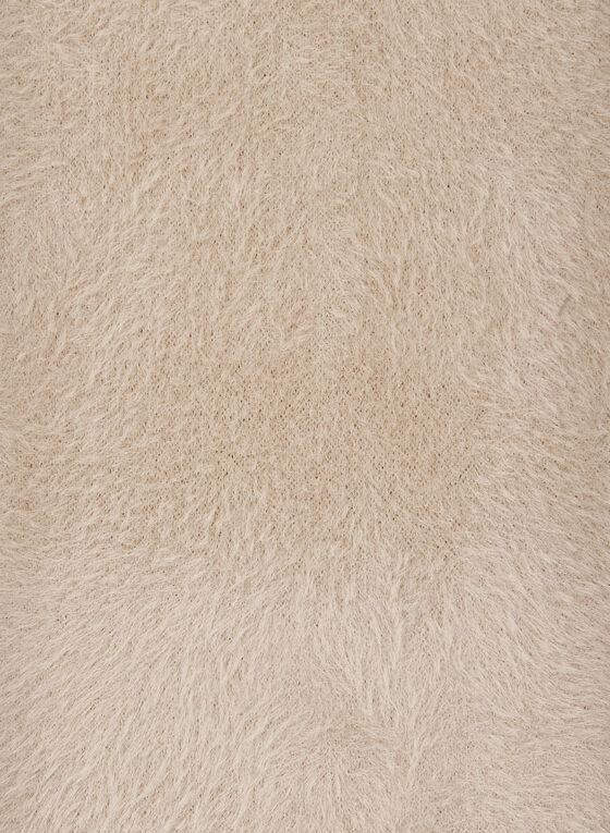 Foulard pelucheux uni , Blanc cassé