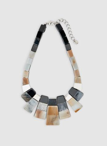 Collier à pendentifs rectangulaires, Brun, hi-res,  collier, rectangle, lucite, automne hiver 2019
