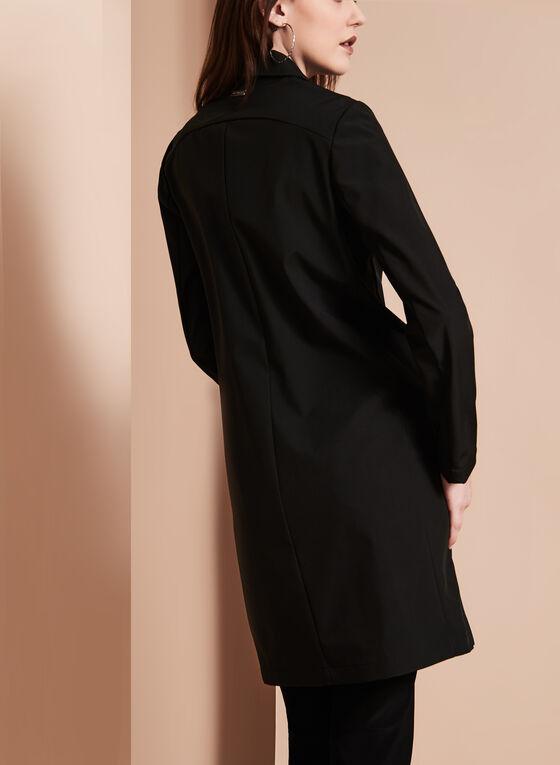 Novelti - Notch Collar Banker Coat, Black, hi-res