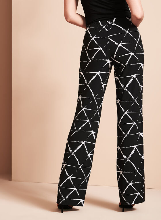 Conrad C - Graphic Print Wide Leg Pants, Black, hi-res