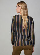 Long Sleeve Wrap Blouse, Black