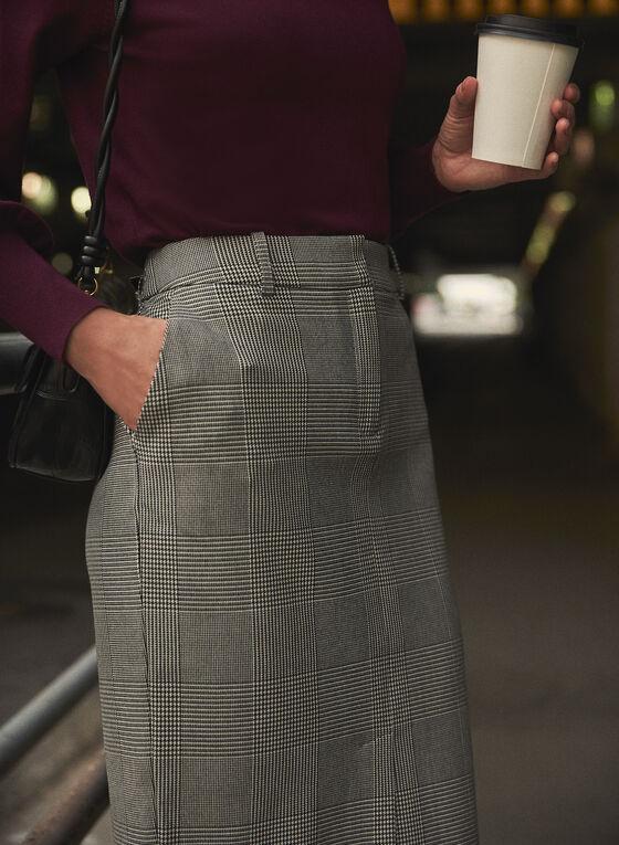Prince of Wales Print Skirt, Black